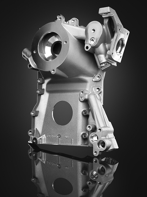 machined aluminium, automotive part.