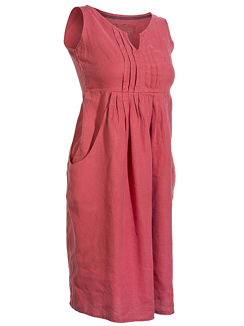 Linen fabric womens dress.