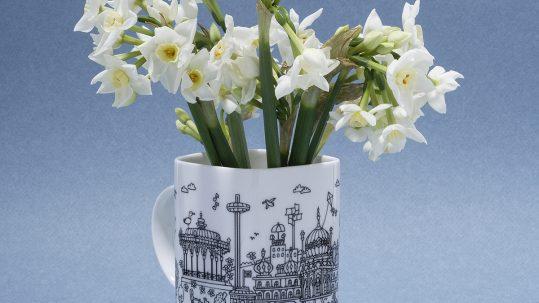 Daffodils in a mug