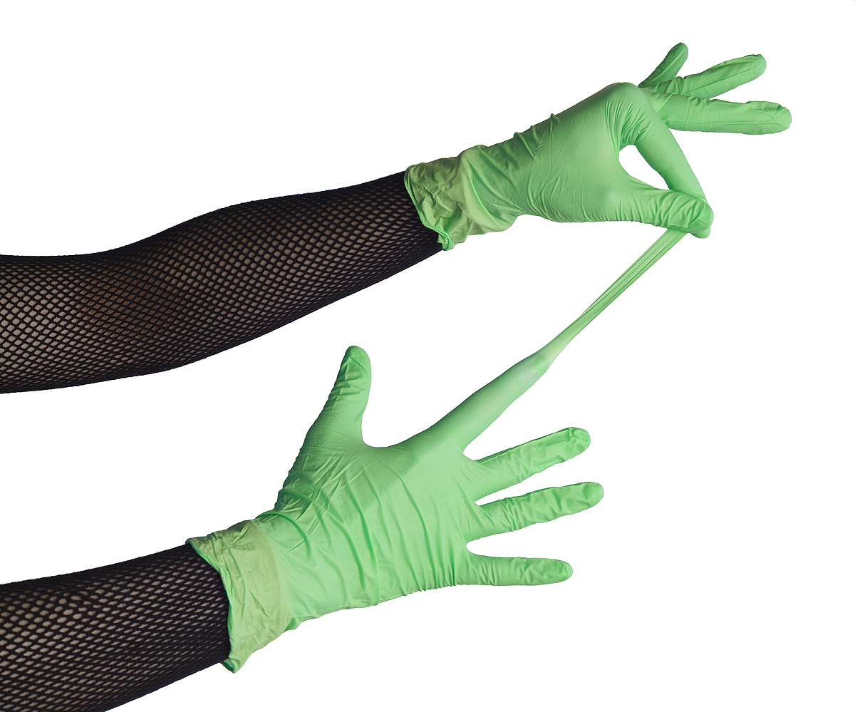 rubber nitrile gloves