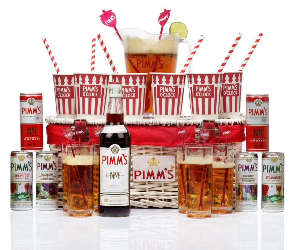 Pimms outdoor drinking